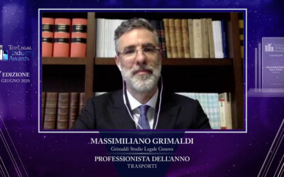 MASSIMILIANO GRIMALDI VINCITORE AL TOP LEGAL INDUSTRY AWARDS 2020 – CATEGORIA TRASPORTI